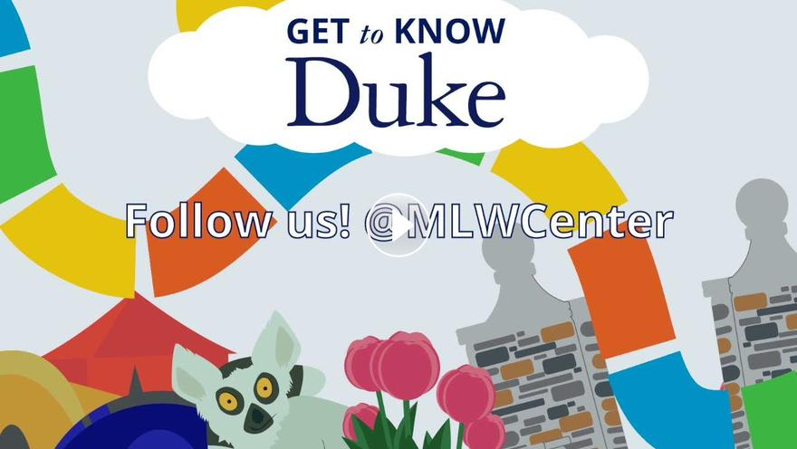 """Youtube video for the """"Get to Know Duke"""" series featuring the Mary Lou Williams Center"""