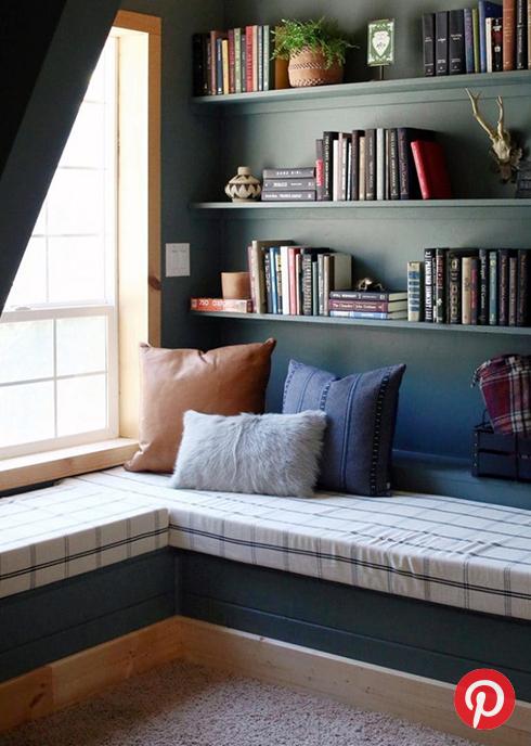 A comfy reading nook