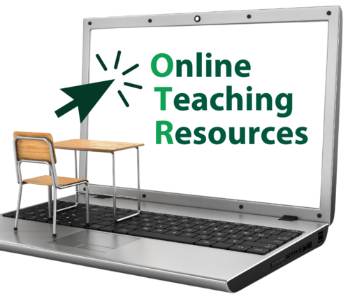 decorative image of the Online Teaching Resources