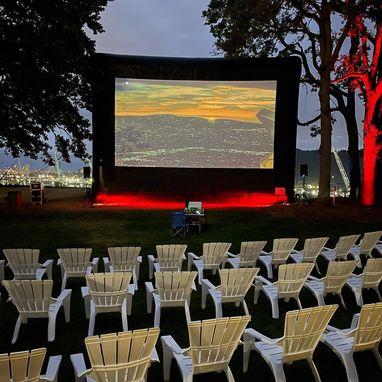 outdoor movie UP Orientation