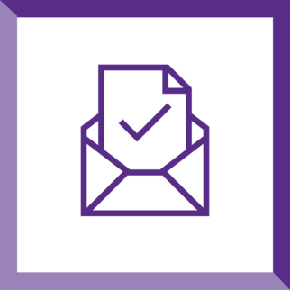 icon of an envelope with a letter emerging