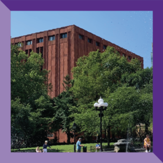 Exterior view of Bobst Library