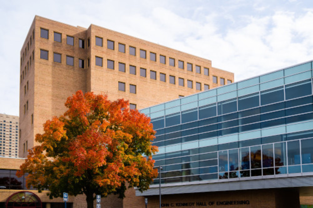 Image of Eberhard Center and Kennedy Hall of Engineering