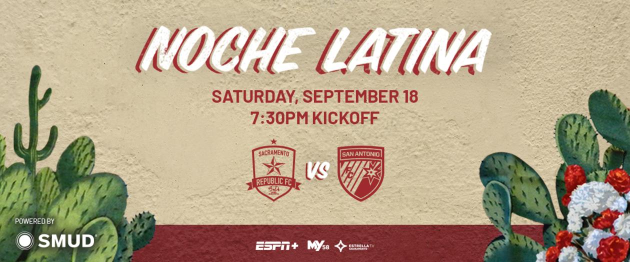 Sacramento Republic FC vs San Antonio FC. September 18, 7:30 pm kickoff