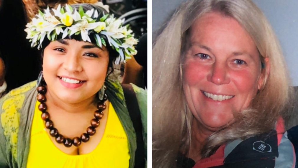 Amber Olopuy (left) and Annette Hall (right)