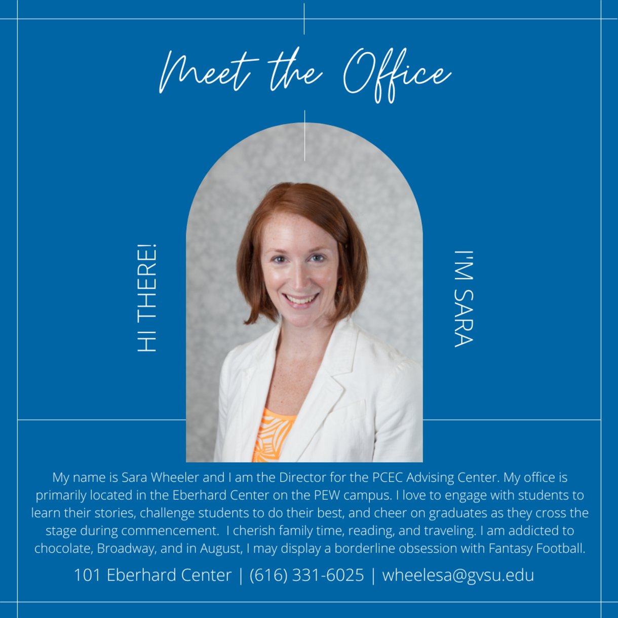Meet the Office image with text on it about Sara Wheeler