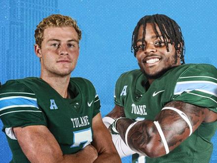 Green Wave quarterback Michael Pratt and linebacker Nick Anderson
