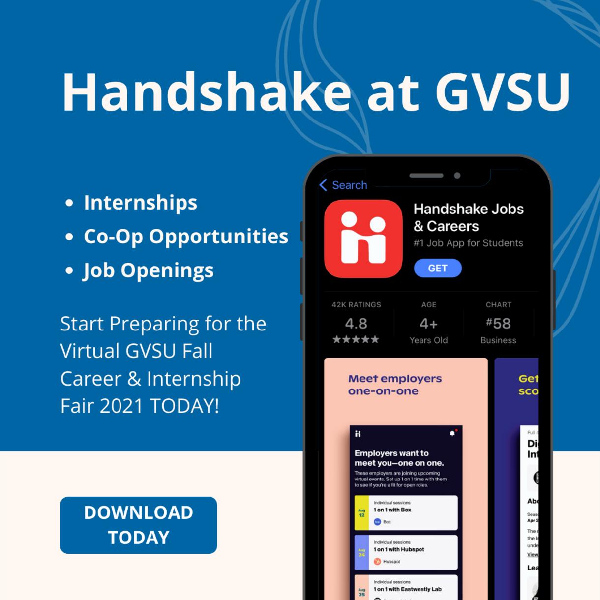 Handshake at GVSU image