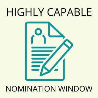 Highly Capable Nomination Window closes Sept 17