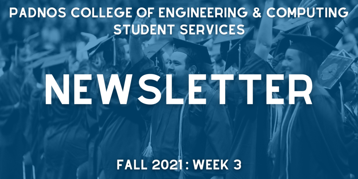 PCEC Student Services newsletter logo for Week 3