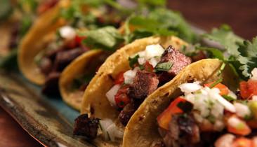 Plate of steak tacos
