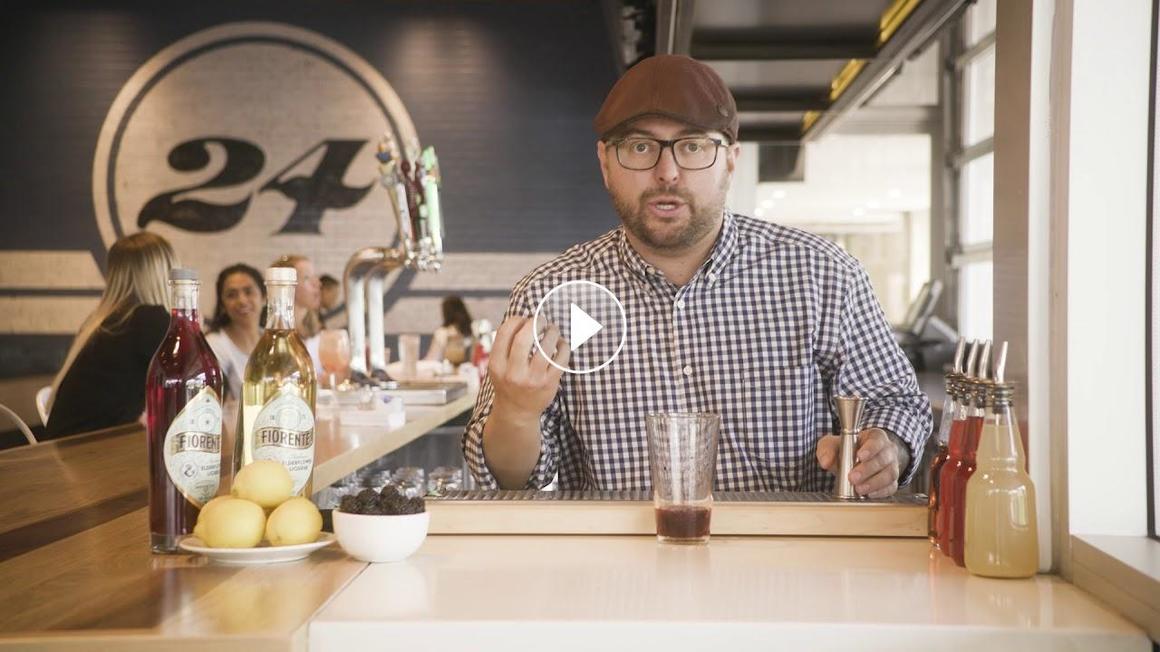 Video of bartender making Zinburger's Long, Tall Lemonade
