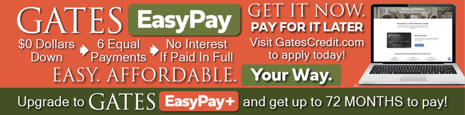 Gates EasyPay Options