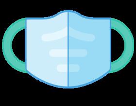 Illustration of a safety COVID-19 mask.
