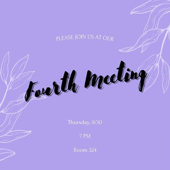 Next USGA meeting: Thursday 9/30 7 PM Room 324