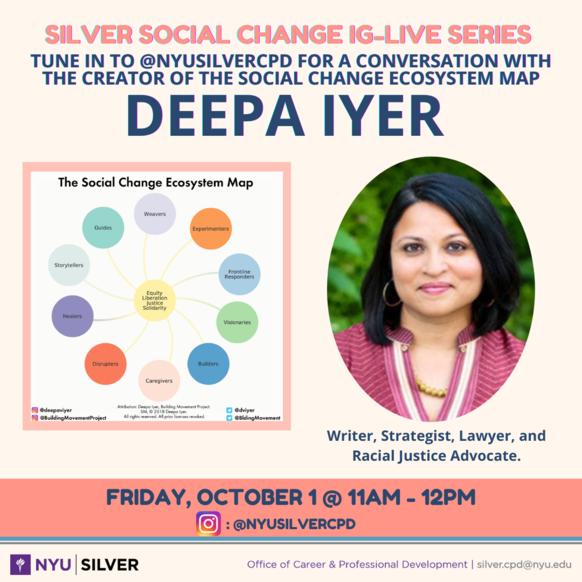 Silver Social Change Series flyer