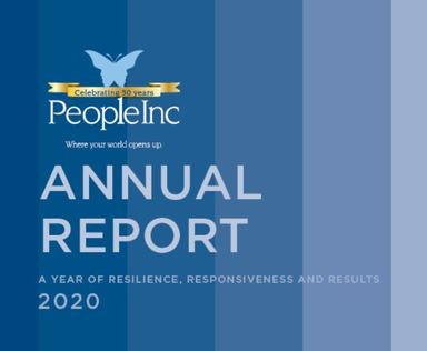 the cover of the 2020 Annual Report.