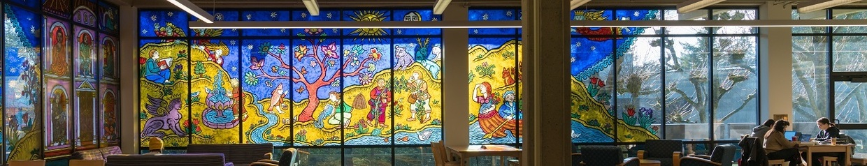 Stained glass in the library
