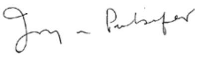 Joy N Pulsifer's signature