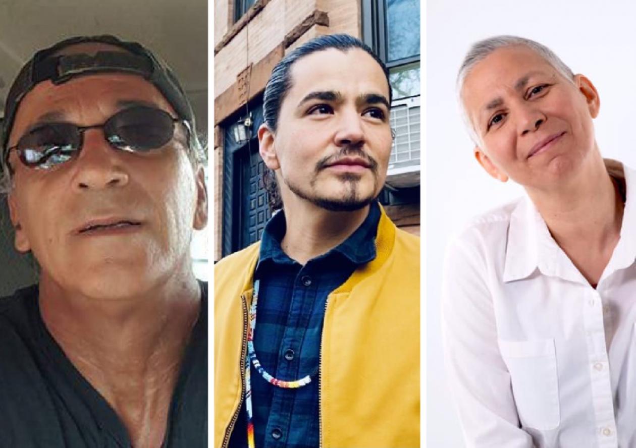 With Kawesoton Light (Mohawk), Ty Defoe (Oneida/Ojibwe), and Skawennati (Mohawk)