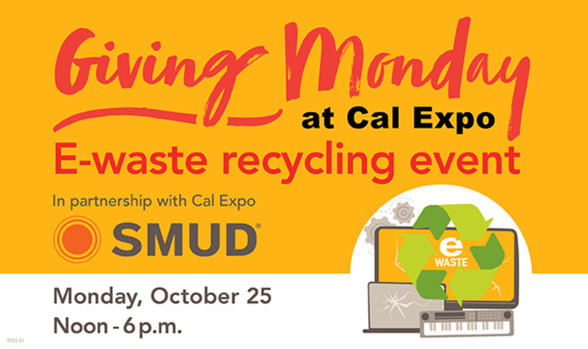SMUD Giving Monday E-Waste Recycling Event