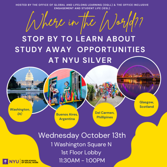 Where in the World? Study Away Opportunities at NYU Silver
